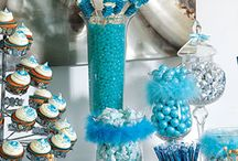 Blue White Candy Buffet
