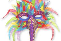 Brasilian carnival mask