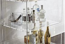 """Bar Cart Envy! / Charleston could be synonymous with """"cocktail""""...here are some incredible inspirations for presentations and storage of your bar sets and libations!"""