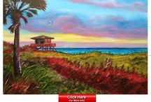 Home Decor Oil Paintings / www.LloydDobsonArtist.com  Affordable original oil paintings, with a tropical beach theme, by Siesta Key, Florida artist Lloyd Dobson. Lloyd ships FREE to the lower US and Canada. His art hangs in hundreds of private collections throughout the US, Canada and the UK.
