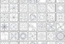 Hand quilting patterns