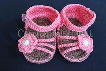 Sandálias de crochet