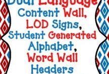 Dual Language Classroom Walls
