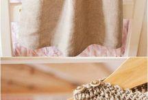 Crochet + fabric designs
