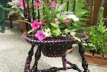 kvetináč zo stoličky