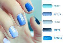 Blue colours / Niebieskie odcienie lakierów hybrydowych Cosmetics Zone / www.lakieryhybrydowe.pl