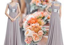 Grey & Silver Bridesmaid Dresses