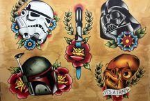 Star Wars oldschool tattoo