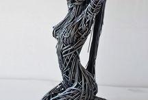 escultura metal