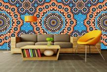 Moroccan Wallpaper Murals - Made in Britain / Standard or Custom sized digitally printed murals exclusive to Zazous and made in the UK. http://www.zazous.co.uk/PBSCCatalog.asp?ActionID=67174912&PBCATID=1505661&PBCATName=Zazous%20Made%20In%20Britain