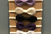 Mini bow headbands
