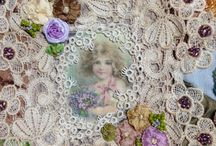 crazy quilting & beadwork & ribbon embroidery