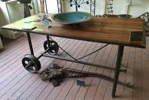 Recycled Furniture / I work in Metal and I also love to recycle furniture.  This board features some of my work.