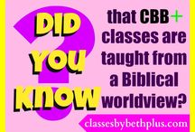 Did You Know? / Facts about Classes By Beth Plus (CBB+) courses and teachers