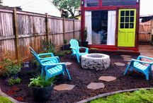 Fire pit backyard / by Carla Mace
