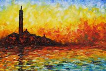 Fine Art / Claude Monet - Twilight.  Just love the French impressionist!