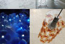 lampade con bottiglie di plastica