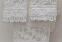 toalhas  decoradas em crochet