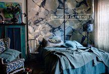 Painterly Interior walls and fabrics