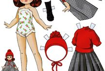 Paper Dolls / cut-outs / by Sharon Scott