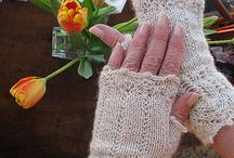 plet. rukavice se vzorem bez prstů