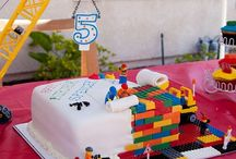 Twins birthday party lego/construction