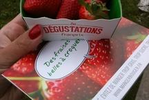Les dégustations Franprix / Des milliers de fruits distribués dans Paris : fraises, nectarines ...