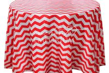 Round Patterned Linen for Hire