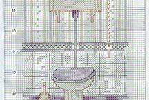 punto cruz, baños