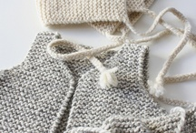 Handmade baby knits