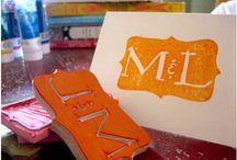 stamp, stencil, gelli, print / by Lynne Hughes