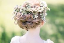 bride's hair idea
