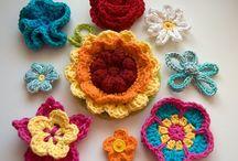 C.  Flores ganchillo y punto