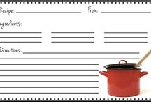 Recipe Card Templates / I have a lot of recipes.  What can I say? :) / by Rita Smith