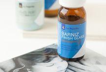 Barniz finish glass