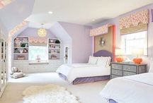 Kats coral and lavender room ideas