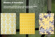 SHADES OF SUNSHINE - Yellow Rugs / Some painters transform the sun into a yellow spot, others transform a yellow spot into the sun. ~ Pablo Picasso  #loveofrugs #rugs #nwrugs #interiordesign #homedecor #decorating / by NW Rugs and Furniture