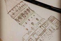 kara kalem çizikler :))