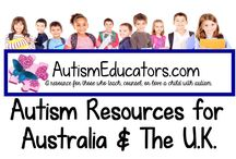 Autism Resources for AUSTRALIA and The U.K. / Math, reading, writing, and social skills lessons created specifically for special needs learners in Australia and The U.K. Unique learning activities available at http://www.AutismEducators.com.