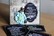 Chalk board cards