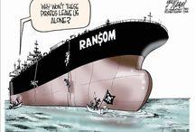 Somalische piraterij - cartoons / Somalische piraterij 2008-2013 in spotprenten