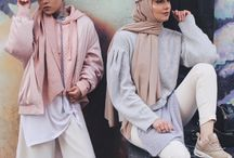 hijab and hat outfit