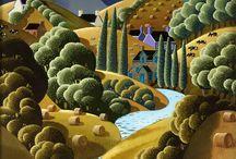 Callaghan george peinture naïve