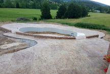 Custom Concrete Pool Decks / Add a little spice to your new or existing pool deck or pool surround by stamping it! Contact us for a free consultation, we have many great options to choose from.