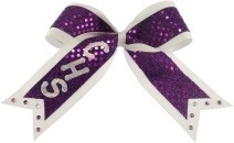 Monogrammed Cheer Bows