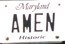 """License Plates / I've been taking pictures of license plates for years because of the work I do in the goal-setting world, and how license plates can be """"primes"""" for behavior, both good and bad.  These license plates are funny, moving, weird and everything in between.  Enjoy! / by Caroline Adams Miller"""