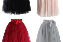 tulle skirts...