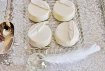 Baptême plume blanc argent