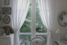 Window Treatments - Curtains- Drapes / How you Treat the Widows in Your Living-space-- will chance the Mood -Image- Light- Climate- Temperature>>It will also give the Living -space a certain Personality. Do it with Fun and Love