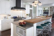 A Kitchen by the Sea / A gorgeous but functional remodeled kitchen in a 1908 beachfront home.